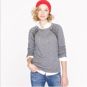 J. Crew embellished Raglan sweatshirt size small